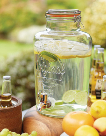 Kilner glass jar with 5 l tap
