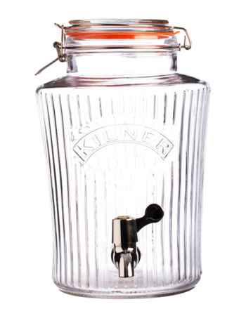 Vintage Kilner glass jar with 8 liter tap
