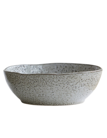 Porcelain salad bowl rustic