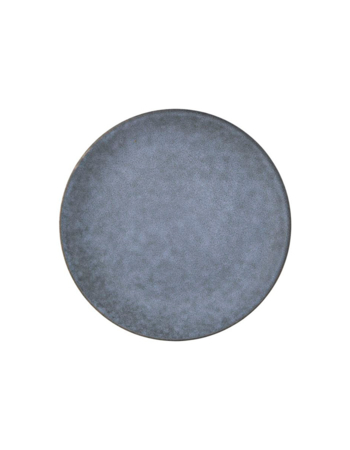 Porcelain Plate Gray Stone Large