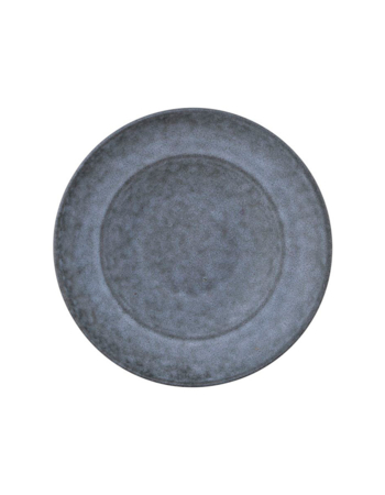 Porcelain Plate Large - Deep Gray Stone