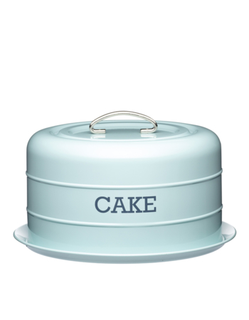 Living Nostalgia Vintage Blue Domed Cake Tin