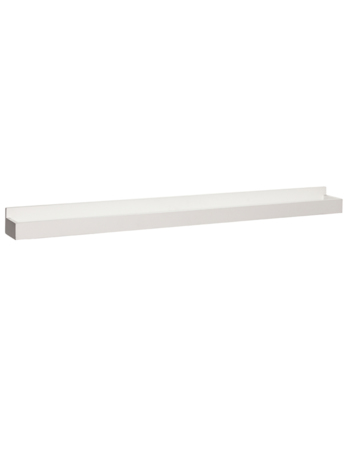 Large Wooden Shelf in White