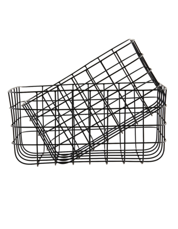 Set of metal baskets Simply black