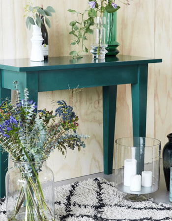 Table made of mangos Musk green 100 x 45