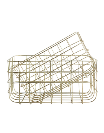 Simply Shiny gold metal basket set
