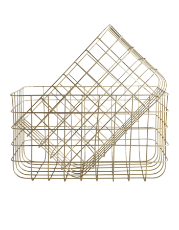 Simply Shiny gold 24x32 / 28x36 metal basket set