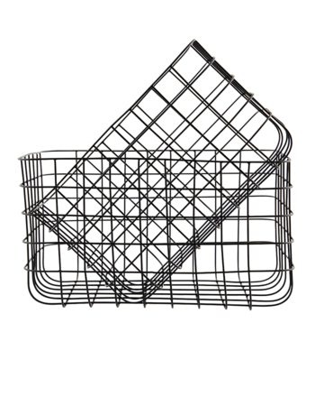 Simply Black 24x32 / 28x36 Metal Basket Set