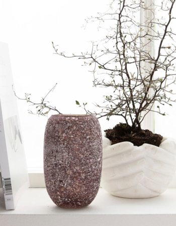 Glass small vase Earth brown