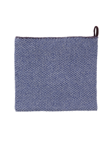 Blue, White and Purple Tea Towel