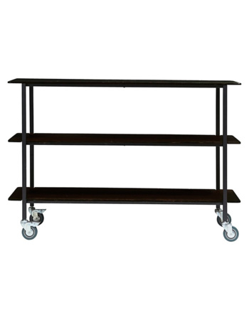 Trolley Vene Black 150 x 40 x 100 cm