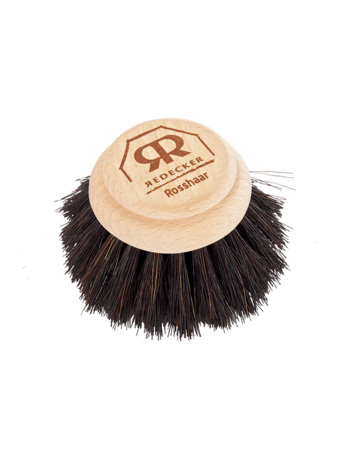 Wooden soft replacement head for dish brush with untreated beechwood & horsehair.