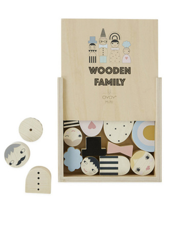 Wooden Family Bricks