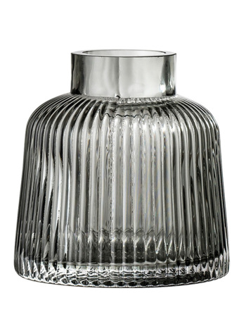 Vase Grey Glass