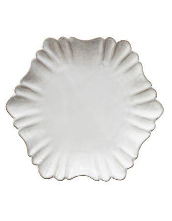 Chateau Plate, White, Terracotta