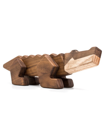 Magnetic wood toy Crocodile