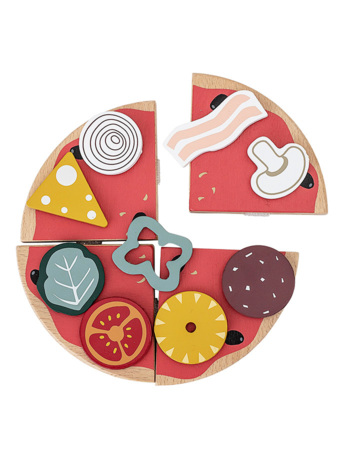 Play Set, Food, Multi-color, Beech / Pizza