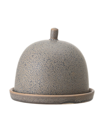 Kendra Butter Dome, Grey, Stoneware