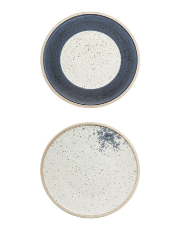 Hazel Plate,2 pcs / Multi-color, Stoneware Ø 21