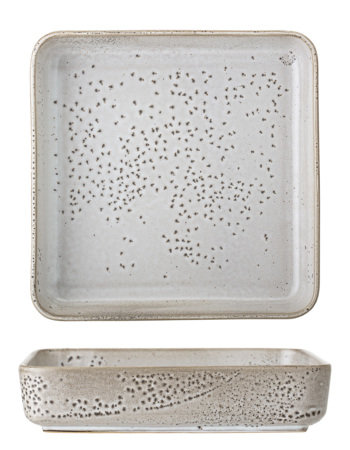 Thea Serving Dish, Grey, Stoneware 25 x 25