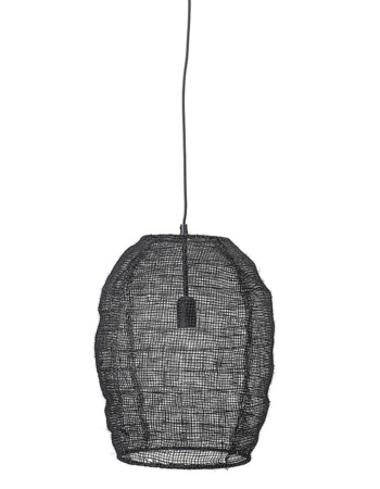 Pendant Lamp, Black, Jute