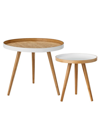 Cappuccino Coffee Table, White, Wood
