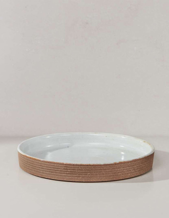 Mali Ribbed Tray White