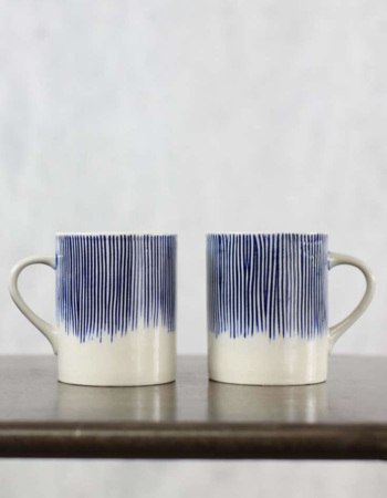 Karuma Ceramic Mug Blue & White Large