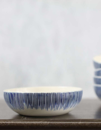 Karuma Ceramic Cereal Bowl Blue & White