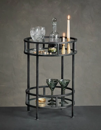 Nakuru Iron & Glass Drinks Table