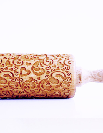 "Embossed Roller ""Hearts and Flowers"""