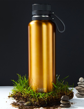 Outdoor termo bottle Lurch - 1 l gold