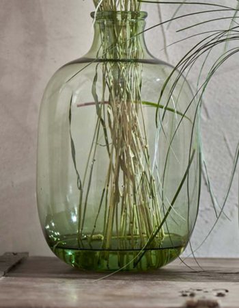 Lua Glass Vase - Green small