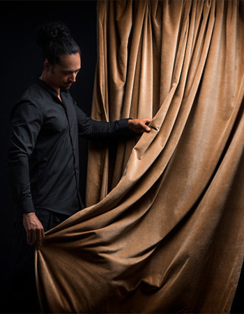Paolo Curtain Camel Brown