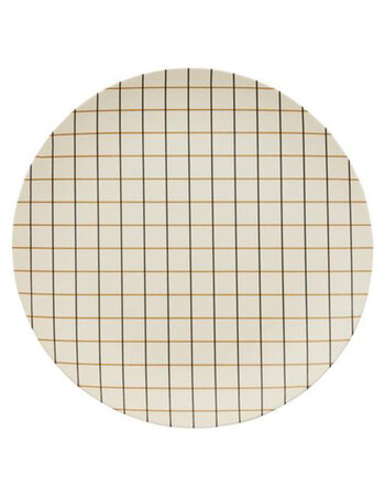 Bamboo Grid Tray Offwhite / Rubber