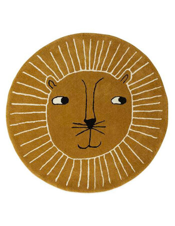Round Lion carpet