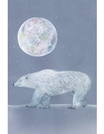 "Print aquarelle ""Polar bear"""
