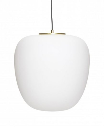 Pendant lamp white glass ø 40