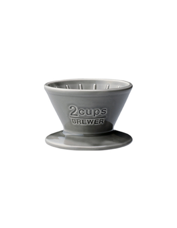 Ceramic brewer 2 cups gray