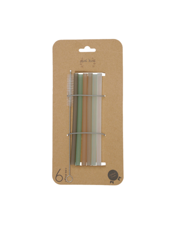 Medical grade straws Botanical 6 pcs