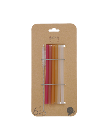 Medical grade straws Sunset 6 pcs