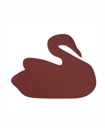 Placemat Swan Crimson Red