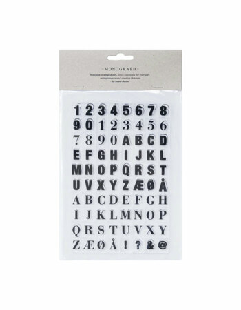 Silicone stamp sheet Letters & numbers Black