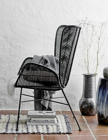 Erika Lounge Chair Black Rattan